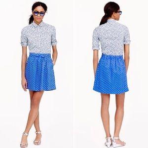 J. CREW Boardwalk Polka Dot Skirt